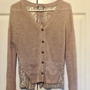 Lace Open back sweater
